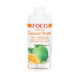 Органическая кокосовая вода FOCO Манго, 330 мл