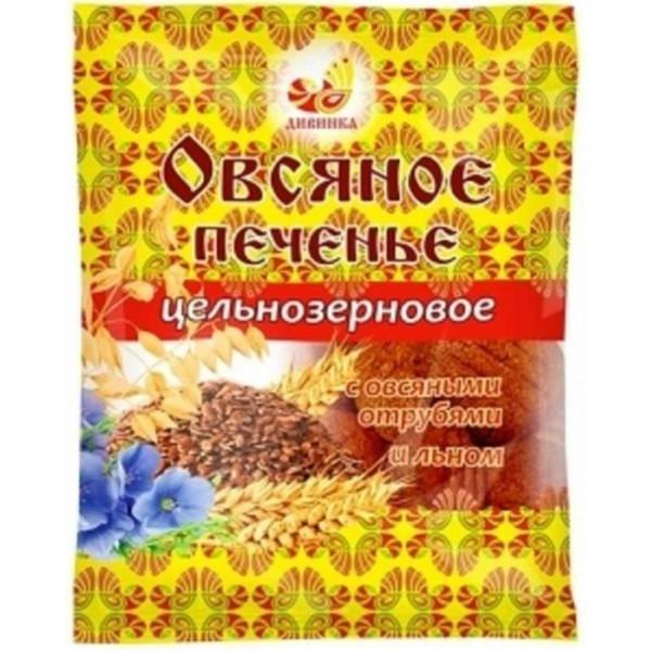 Овсяное печенье с овсяными отрубями и льном, 300 г