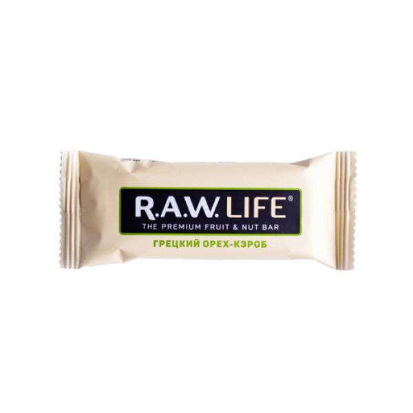 """Батончик """"RAW LIFE"""" Грецкий орех-кэроб, 47 г"""