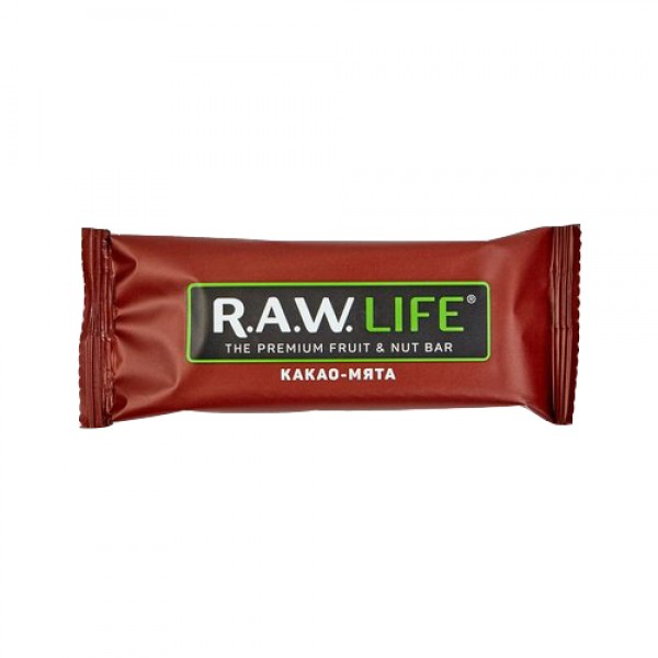 "Батончик ""RAW LIFE"" Какао-мята, 47 г"