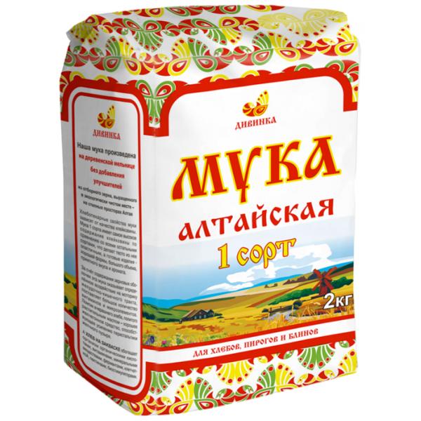 Мука Дивинка пшеничная 1 сорт, 2 кг