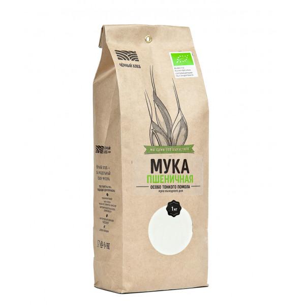 """Мука Пшеничная Тонкого помола """"Черный хлеб"""", 1 кг"""