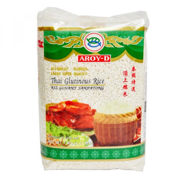 """Рис клейкий Тайский """"Aroy-d"""", 1 кг"""