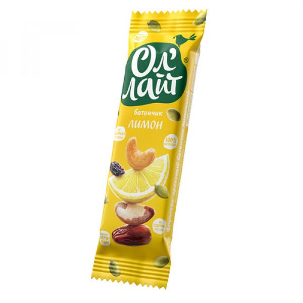 """Фруктово-ореховый батончик """"Лимон"""" Ол'Лайт, 30 г"""