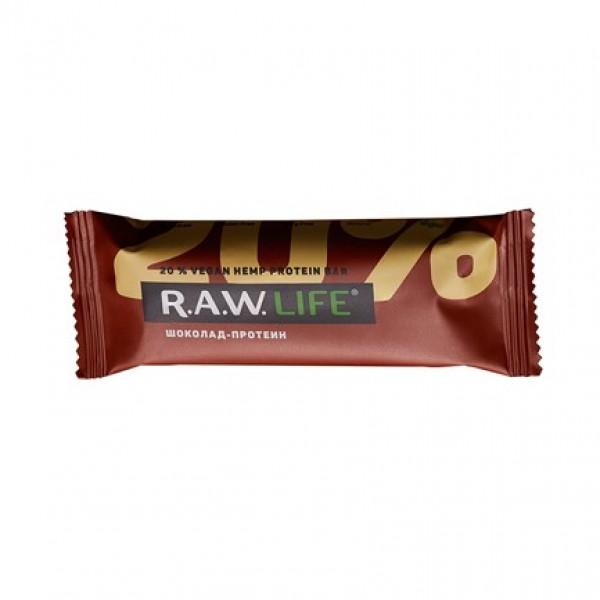 """Батончик """"RAW LIFE"""" Шоколад-протеин, 47 г"""