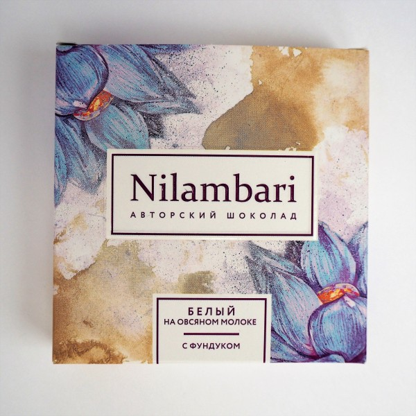 Шоколад Nilambari белый с фундуком