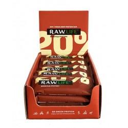 """Шоубокс R.A.W. LIFE """"Шоколад-протеин"""" 20 шт., 940 г"""