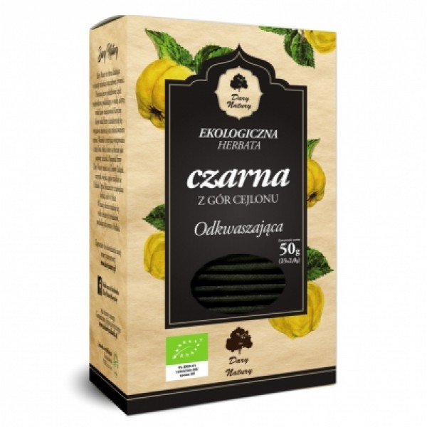 Чай черный с айвой ЭКО в пакетиках, 25х2 г