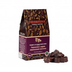 """Конфеты шоколадные без сахара """"Чернослив с ядром абрикосовой косточки"""" THEOBROMA Пища Богов, 160 г"""