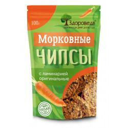 """Морковные чипсы с ламинарией оригинальные """"Здороведа"""", 100 г"""