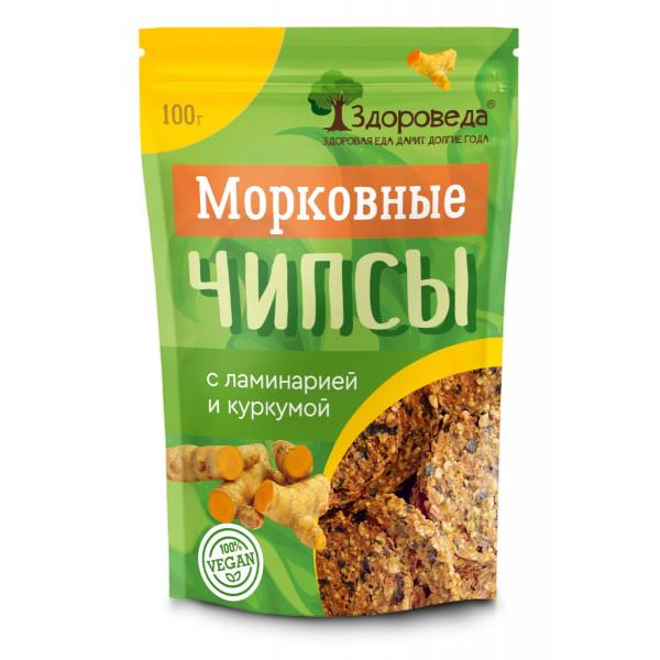"""Морковные чипсы с ламинарией и куркумой """"Здороведа"""", 100 г"""