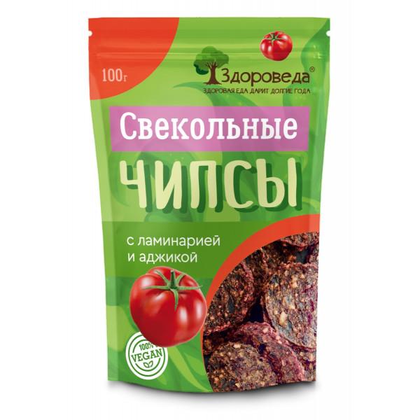 """Свекольные чипсы с ламинарией и аджикой """"Здороведа"""", 100 г"""