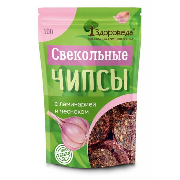 """Свекольные чипсы с ламинарией и чесноком """"Здороведа"""", 100 г"""