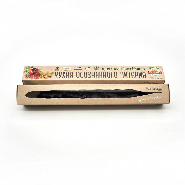 Чурчхела Гранатовая с грецким орехом без сахара, 80 г