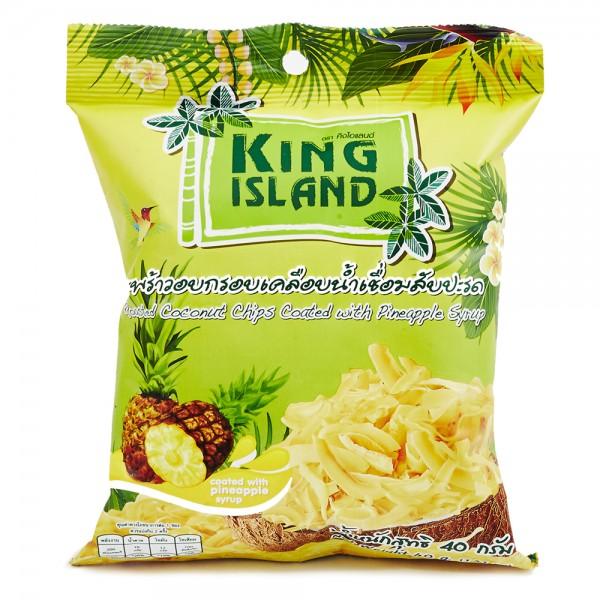 Кокосовые чипсы с ананасом, 40 г