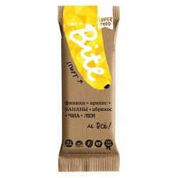 "Батончик Bite ""Спорт SuperFood"", арахис-банан, 45 г"