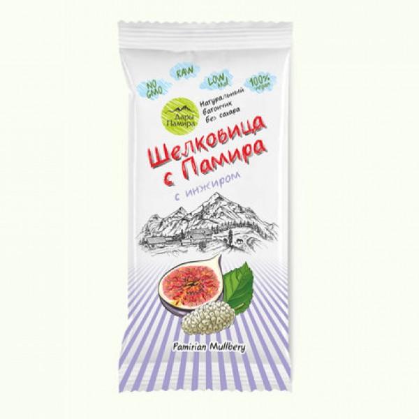 """Натуральный батончик из сушеных ягод Шелковицы с инжиром """"Шелковица с Памира"""", 20 г"""