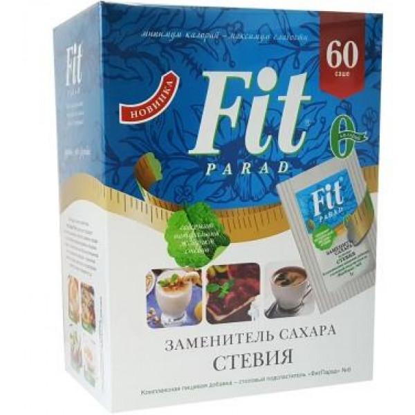 ФитПарад №8 заменитель сахара со стевией, саше 60 шт