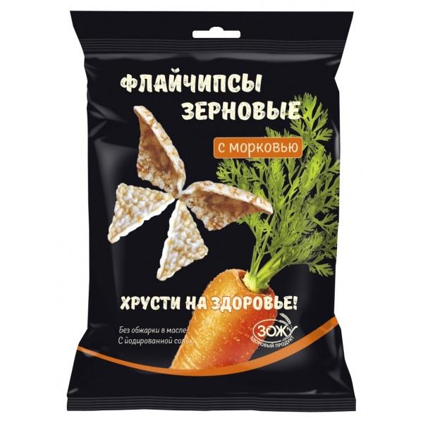 """Флайчипсы зерновые """"с Морковью"""", 40 г"""