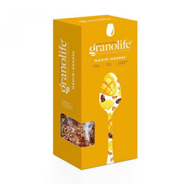 """Гранола """"Манго-ананас"""" Granolife, 60 г/400 г"""
