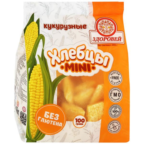 """Хлебцы хрустящие """"Кукурузные МИНИ"""" Здоровей, 100 г"""