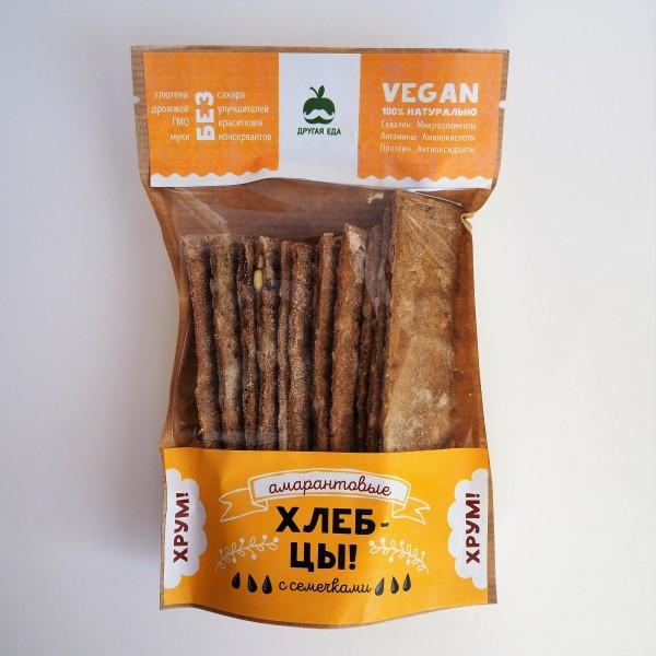 Хлебцы амарантовые с семечками