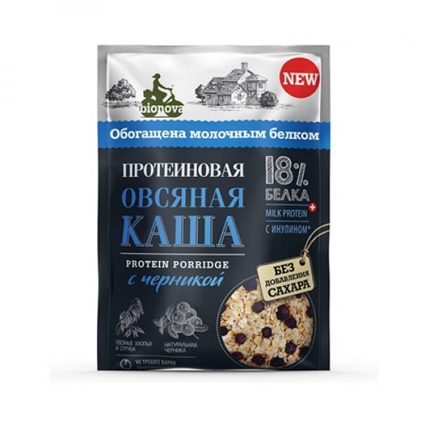 """Каша протеиновая """"Овсяная с черникой"""" Bionova, 40 г"""