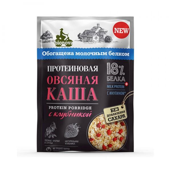 """Каша протеиновая """"Овсяная с клубникой"""" Bionova, 40 г"""