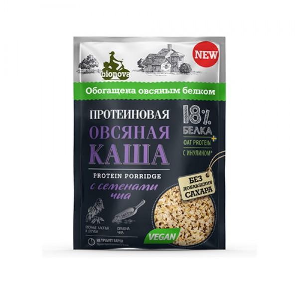 """Каша протеиновая """"Овсяная с семенами Чиа"""" Bionova, 40 г"""