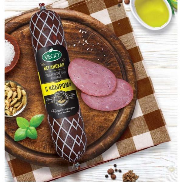 """Колбаса """"Vego"""" полукопченая с сыром (Веган), 400 г"""