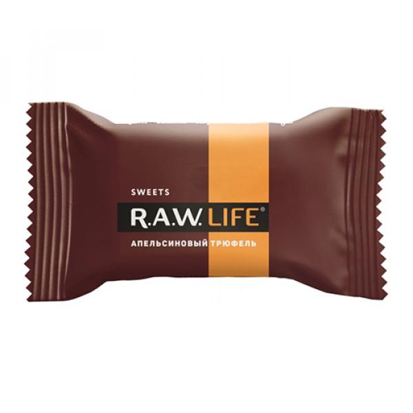 """Конфета """"Апельсиновый трюфель"""" Raw Life, 18 г"""