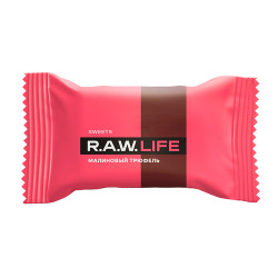 """Конфета """"Малиновый трюфель"""" Raw Life, 18 г"""