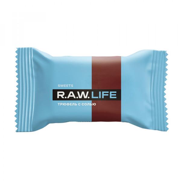 """Конфета """"Трюфель с солью"""" Raw Life, 18 г"""