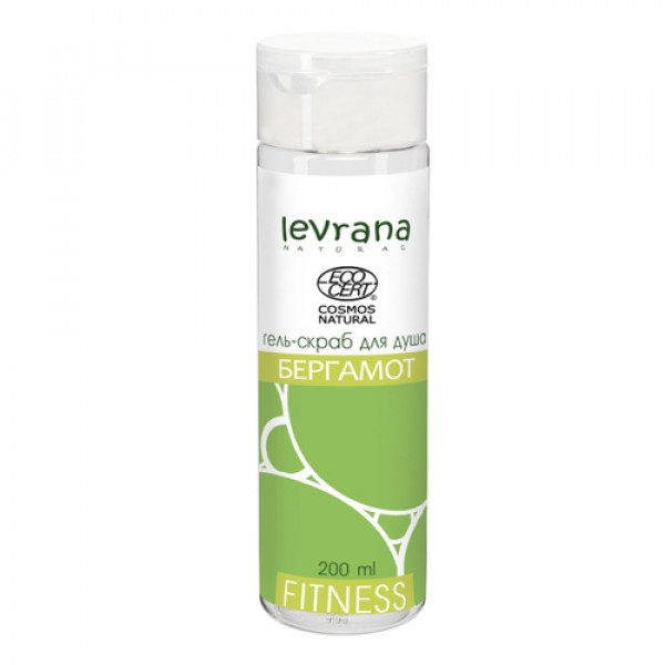 "Гель-скраб для душа ""Fitness Бергамот"" Levrana, 200 мл"