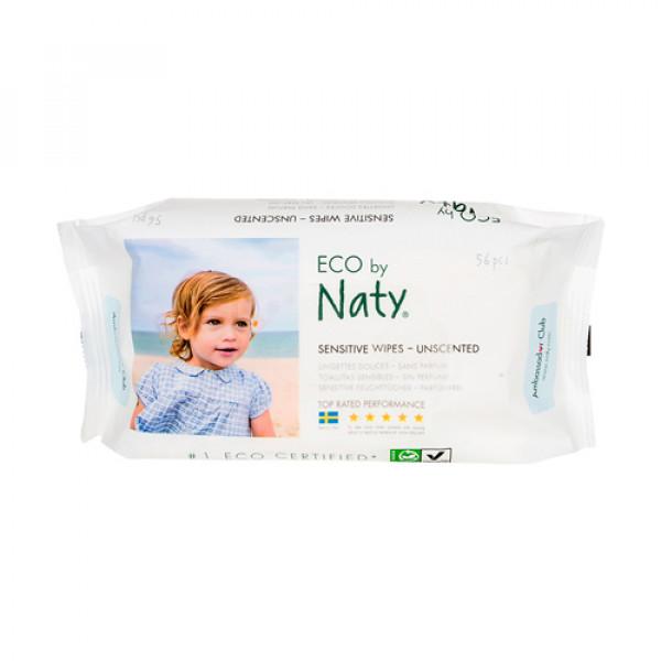 Влажные салфетки без запаха Naty, 56 шт.