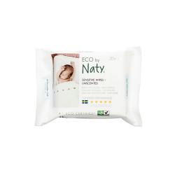 "Влажные салфетки ""Компакт"" без запаха Naty, 20 шт."