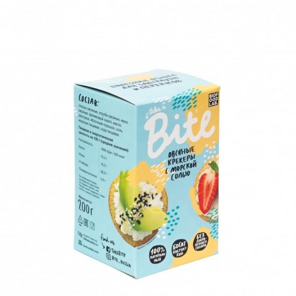 """Крекеры овсяные с морской солью """"Bite"""", 200 г"""