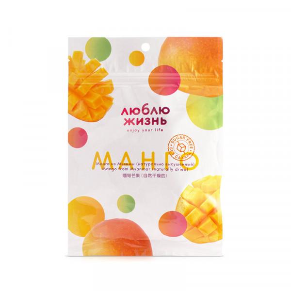 """Сушеное манго из Мьянмы """"Люблю жизнь"""", 80 г"""