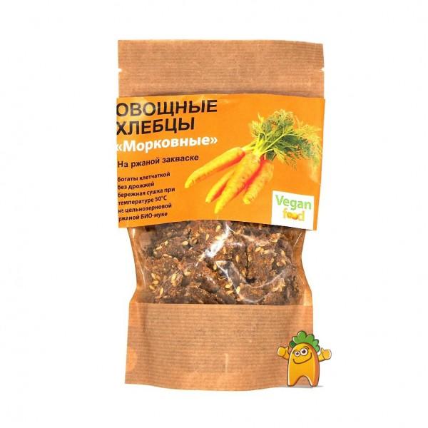 """Хлебцы овощные на ржаной закваске """"Vegan Food"""" Морковные, 100 г"""