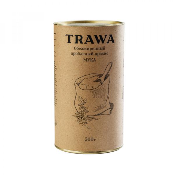 """Мука из обезжиренного арахиса """"TRAWA"""", 500 г"""