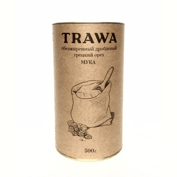"""Мука из обезжиренного кедрового ореха """"TRAWA"""", 500 г"""