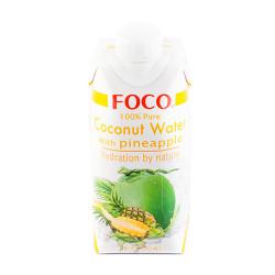Кокосовая вода FOCO с Ананасом, 330 мл