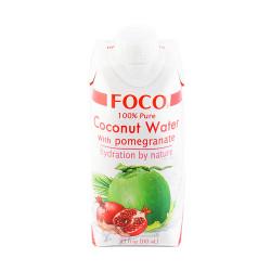 Кокосовая вода FOCO с Гранатом, 330 мл