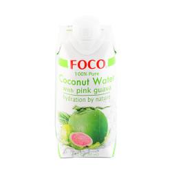 Кокосовая вода FOCO с Розовой гуавой, 330 мл
