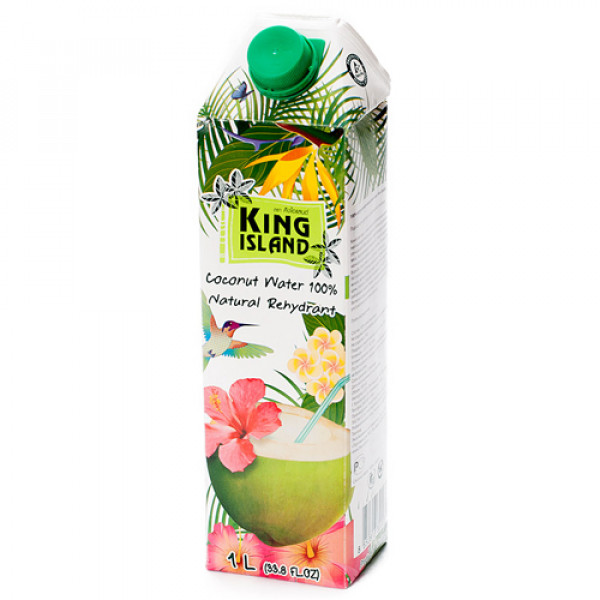 "Кокосовая вода ""King Island"" без сахара, 1000 мл"
