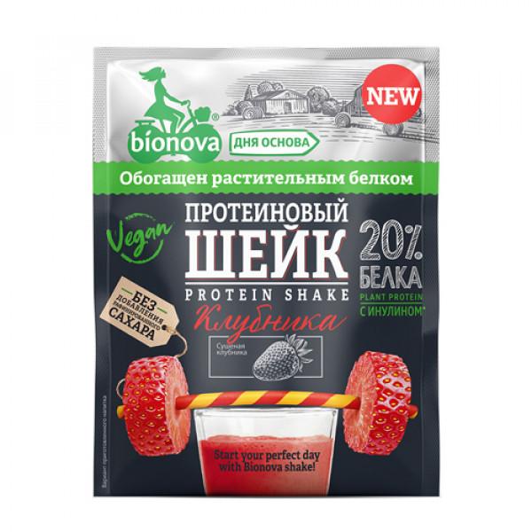 """Шейк протеиновый с Клубникой """"Bionova"""", 25 г"""