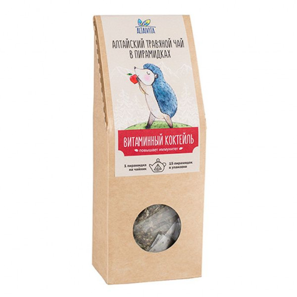 """Травяной чай в Пирамидках """"Витаминный коктейль"""" Алтайвита, 60 г"""