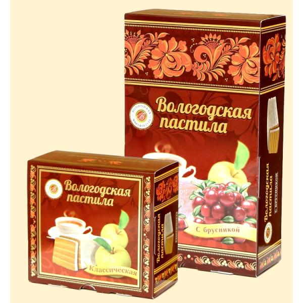 Вологодская пастила Классическая Яблочная с Брусникой, 150 г
