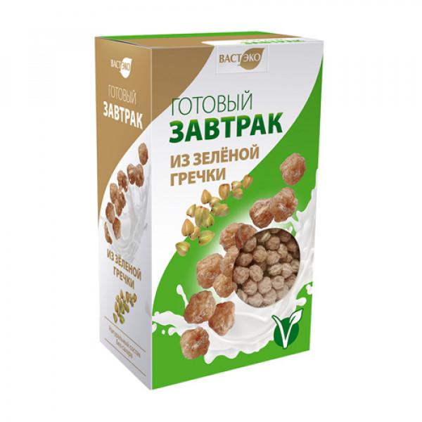 Готовый завтрак шарики из Зеленой гречки ВАСТЭКО, 170 г