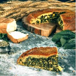 Кусочек полбяного пирога со Шпинатом и тофу, 180 г